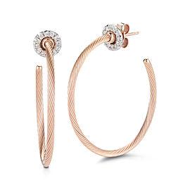 Rose Gold Super-flex Wire Hoop Earrings