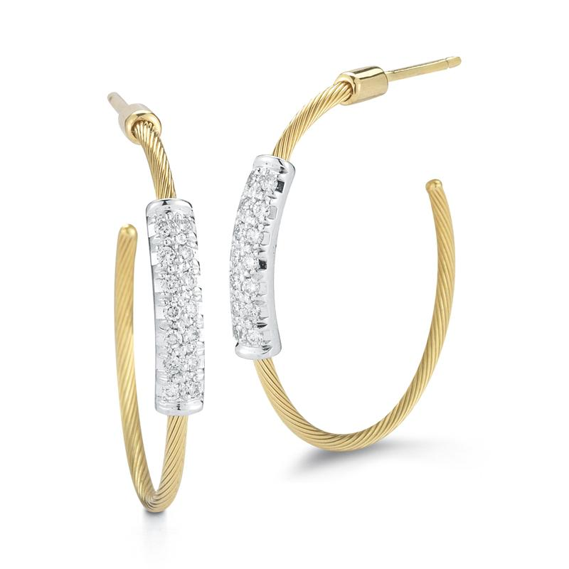 "Image of ""14 Karat Yellow Gold 20mm Super-flex Wire Hoop Earrings"""