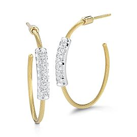 14 Karat Yellow Gold 20mm Super-flex Wire Hoop Earrings