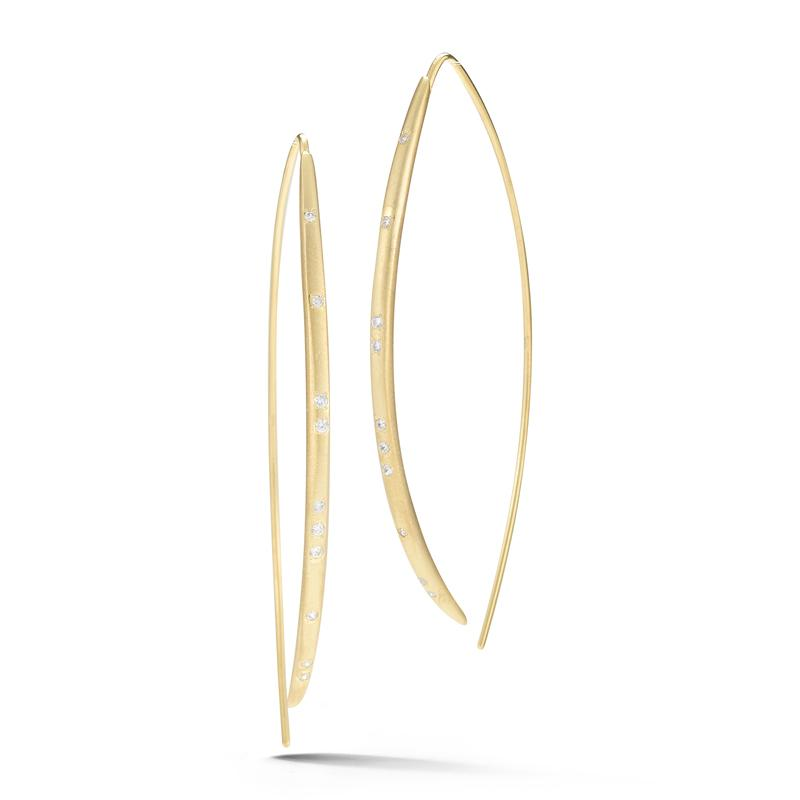 "Image of ""14 Karat Yellow Gold Satin-finish Wire Hook Earrings"""