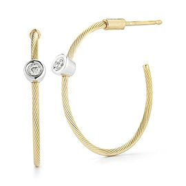 14 Karat Yellow Gold 20mm Wire Hoop Earrings