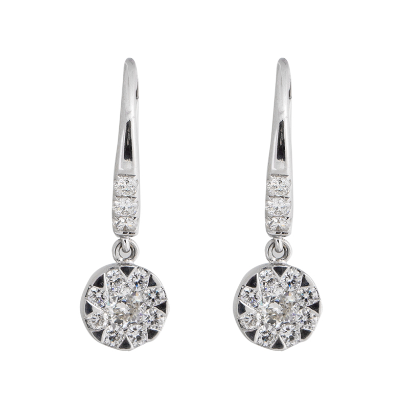"""Image of """"Rina Limor Diamond Dangling Flower Earrings"""""""