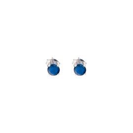 14k White Gold Sapphire September Birthstone Earrings