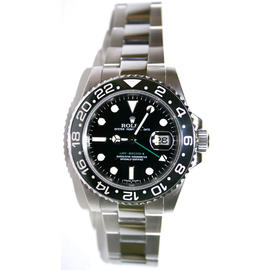 Rolex GMT Master II 116710 Ceramic Bezel Stainless Steel New Style Heavy Band, Unused 2011 Model Watch