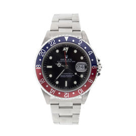 Rolex GMT Master II 16710 Classic Stainless Steel Black Dial and Red/Blue (PEPSI) Bezel Model - 90's Watch