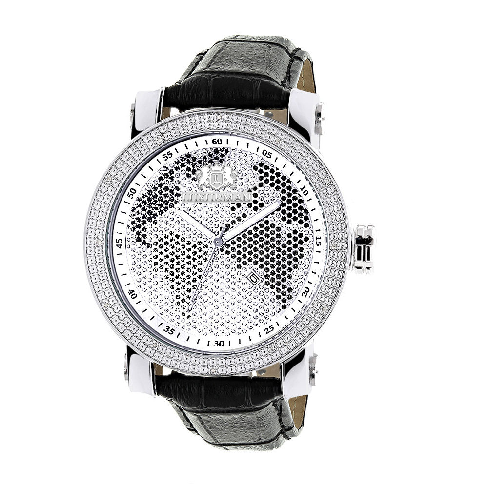 "Image of ""Luxurman Phantom 2140 Stainless-Steel Quartz .18ct Diamond Silver Dial"""