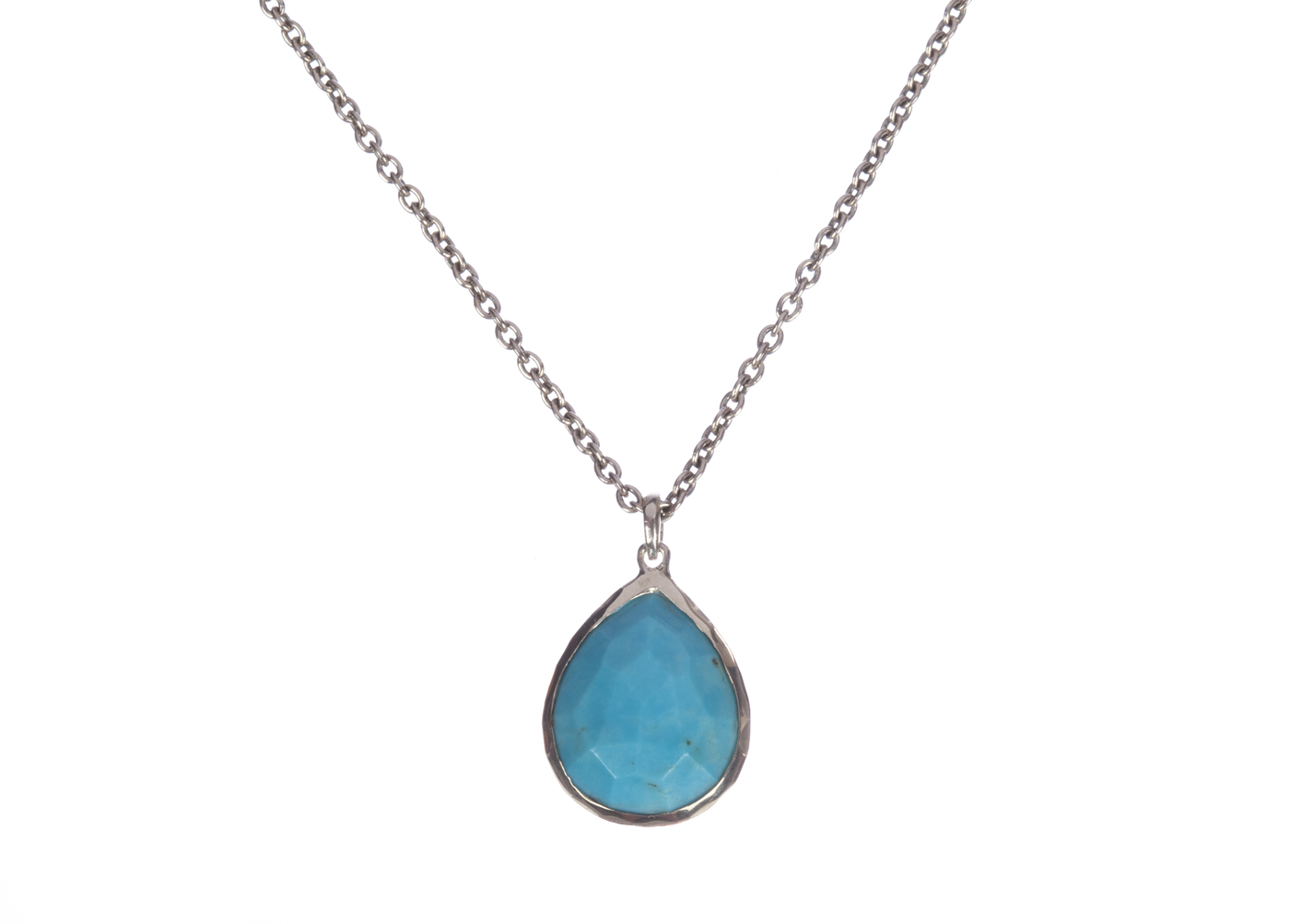 "Image of ""Ippolita Sterling Silver Large Turquoise Teardrop Pendant Necklace"""