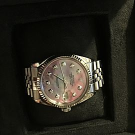 Rolex Unisex Oyster Perpetual Datejust Watch with Diamonds