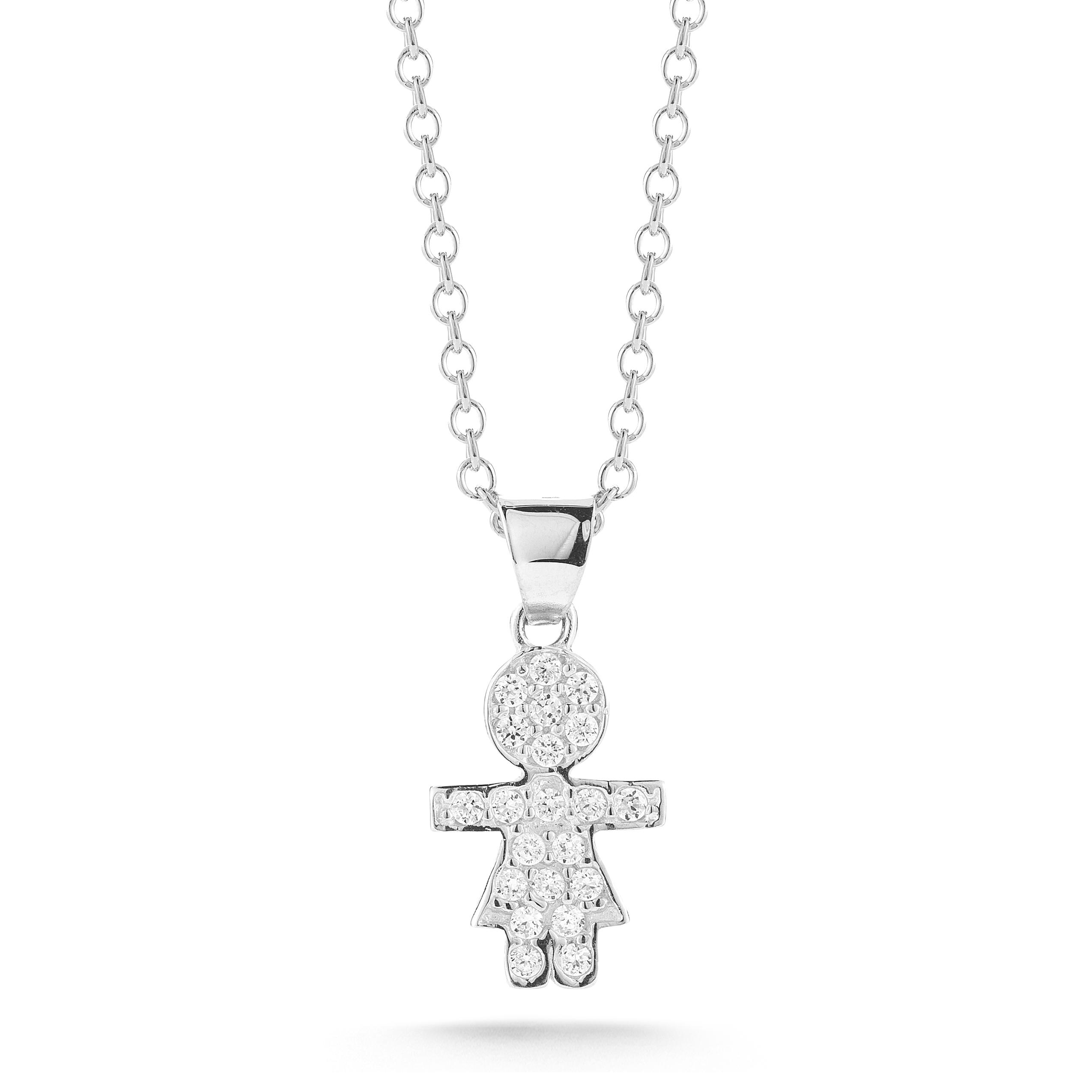 "Image of ""Te Gold Polish-finish Diamond Girl Pendant"""