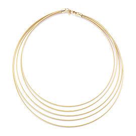 Yellow Gold Super-flex Semi-hollow Multi-strand Wire Necklace