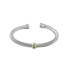 David Yurman Cable Classic Single station With Emeralds 5MM
