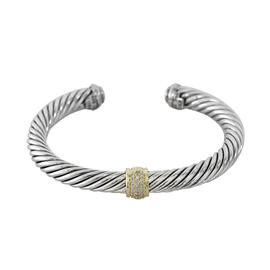 David Yurman Cable Classic With Diamonds and Gold 7MM