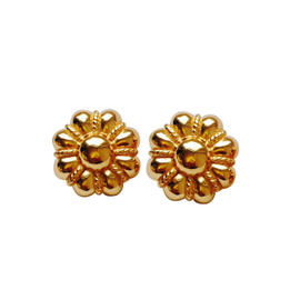 Christian Dior Vintage Flower Clip-On Earrings