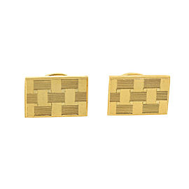 Vintage Pierre Cardin Checkered Design Cufflinks