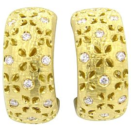 Roberto Coin Diamond 18K Yellow gold Hoop Earrings