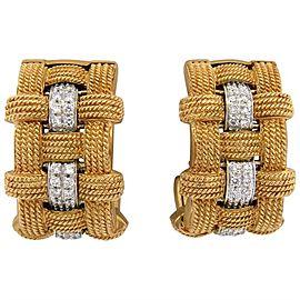 Roberto Coin Diamond 18K Rose Gold Hoop Earrings