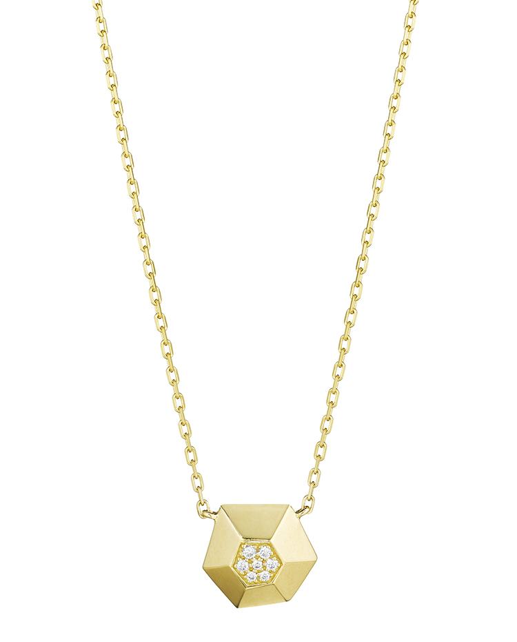 "Image of ""18K Gold Jackson Small Diamond Pendant"""