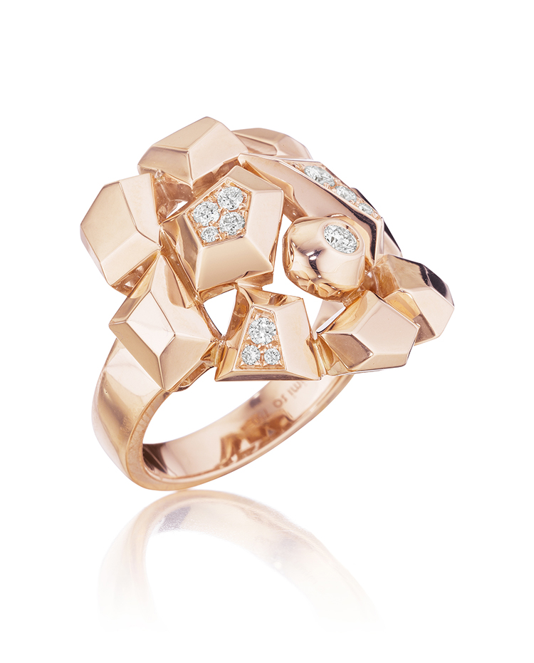 "Image of ""18K Gold Jackson Mini Diamond Cluster Ring"""