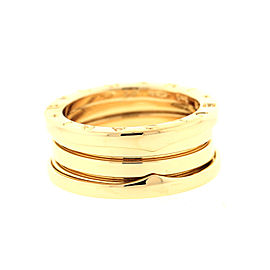Bulgari B.Zero 1 Yellow Gold Triple Band AN191023 Ring Size 48