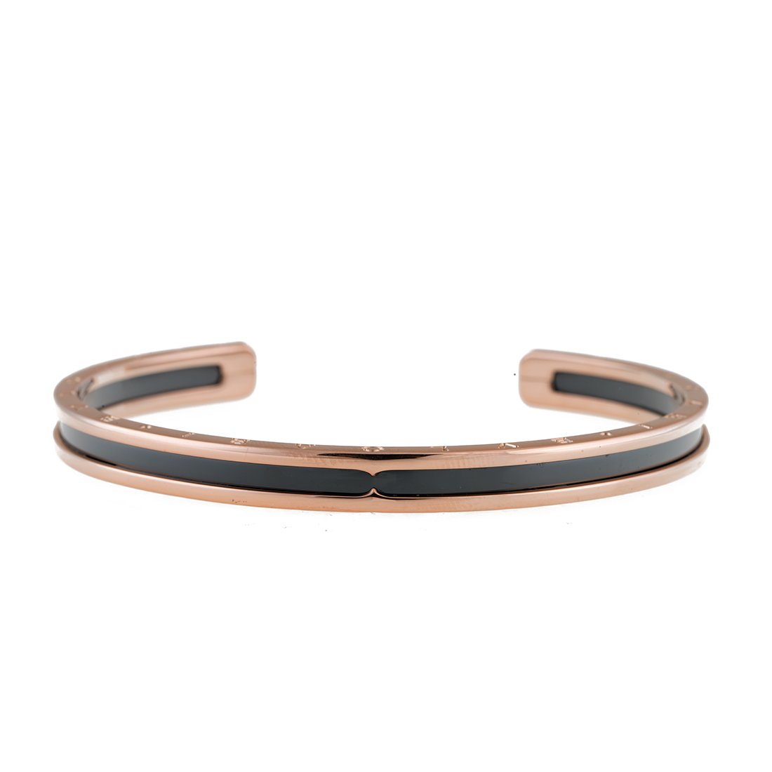 "Image of ""Bulgari Rose Gold, Steel B.Zero 1 Bracelet 6.5"""