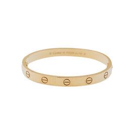 Cartier Love Yellow Gold Bracelet Size 16