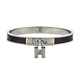 Hermes H Lock Purple Pattern Cuff
