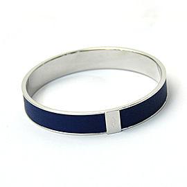 Hermes Drak Blue and Silver Metal Bracelet