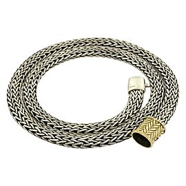 John Hardy 925 Sterling Silver 18k Yellow Gold Chain Necklace