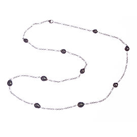 Sterling Silver and Tahitian Baroque Pearl Necklace