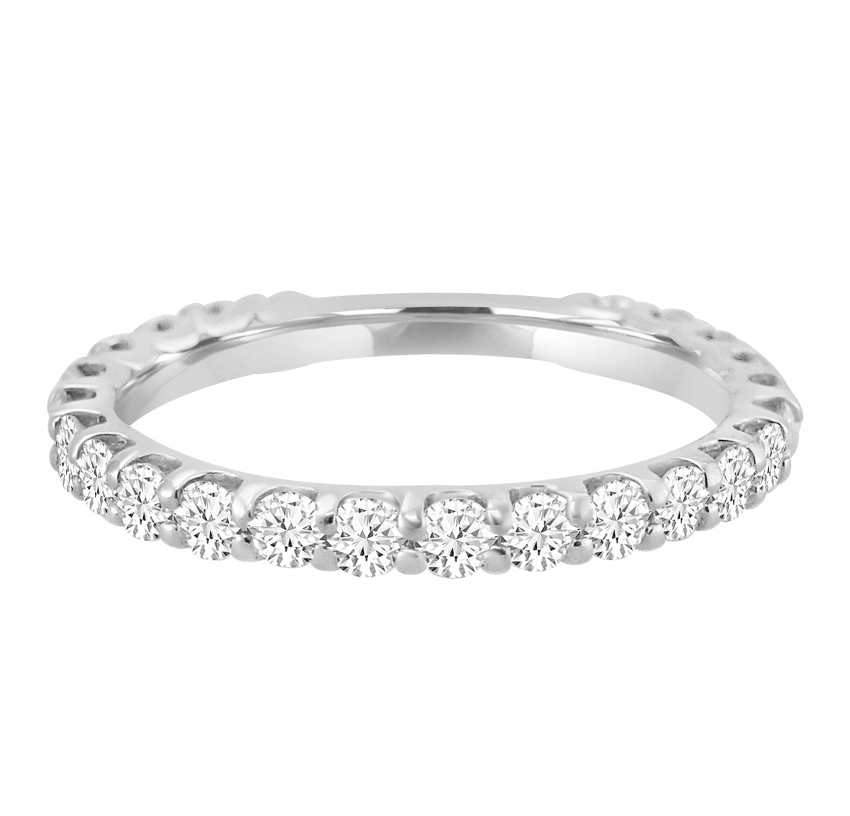 "Image of ""1.00ct Diamond 14k White Gold Almost Eternity Wedding Band"""