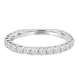 1.00ct Diamond 14k White Gold Almost Eternity Wedding Band