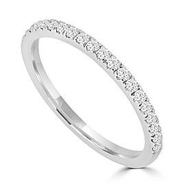 0.25ct Diamond 14k White Gold Half Eternity Stackable Band