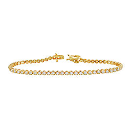 1.50ct Diamond 14k Yellow Gold Tennis Bracelet
