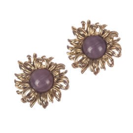 Oscar de la Renta Sunburst Earrings