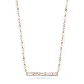 Sadie Pearl Diamond Baguette Bar Necklace