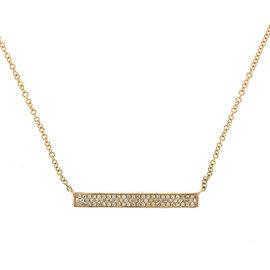 14k Rose Gold Diamond Bar ID necklace