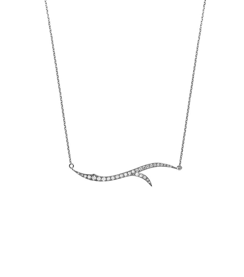 "Image of ""Stephen Webster 18K White Gold & Diamond Necklace"""