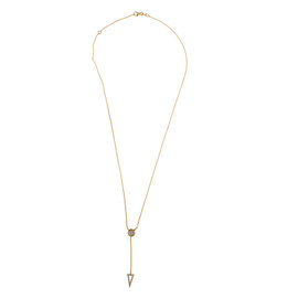 Rina Limor Yellow Gold Diamond Womens Necklace