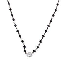 Rina Limor Diamond bezel & Black Diamond Necklace