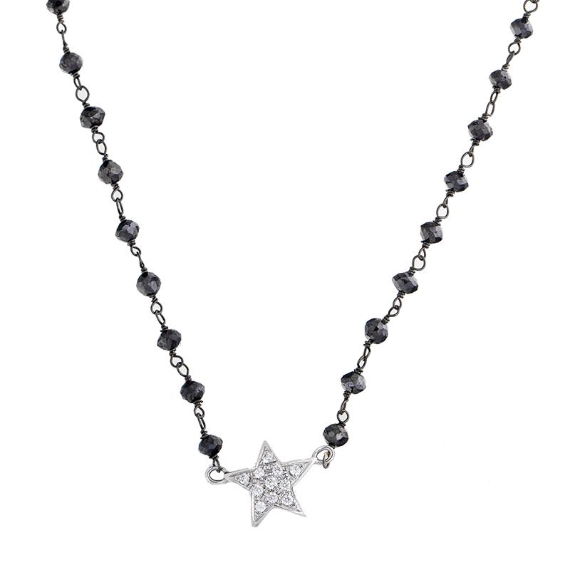 """Image of """"Rina Limor Diamond Star & Black Diamond Necklace"""""""