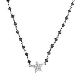 Rina Limor Diamond Star & Black Diamond Necklace