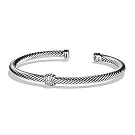 David Yurman Sterling Silver & Diamonds Small Cable Classics Bracelet