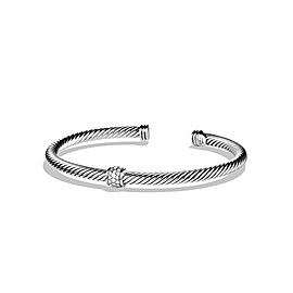 David Yurman Sterling Silver & Diamonds Bracelet