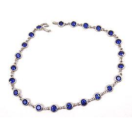 Tiffany & Co. Platinum & Sapphire Link Bracelet