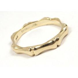 Tiffany & Co 14K Yellow Gold Bamboo Wedding Band Ring