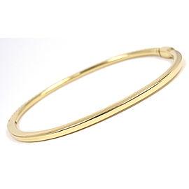 Tiffany & Co. 18K Yellow Gold Metro Diamond Hinged Bangle Bracelet
