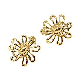 Tiffany & Co. 18K Yellow Gold Daisy Flower Earrings