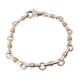 Tiffany & Co. Sterling Silver & 18K Yellow Gold Bar Link Bracelet