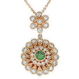 Green Diamond Flower Pendant