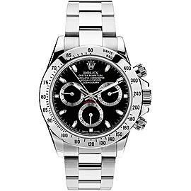 Rolex Pre Owned Steel Daytona 116520 Black Watch
